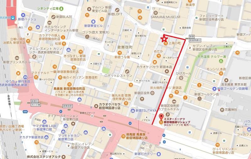 新宿・歌新宿・舞伎町無料案内所アクセス