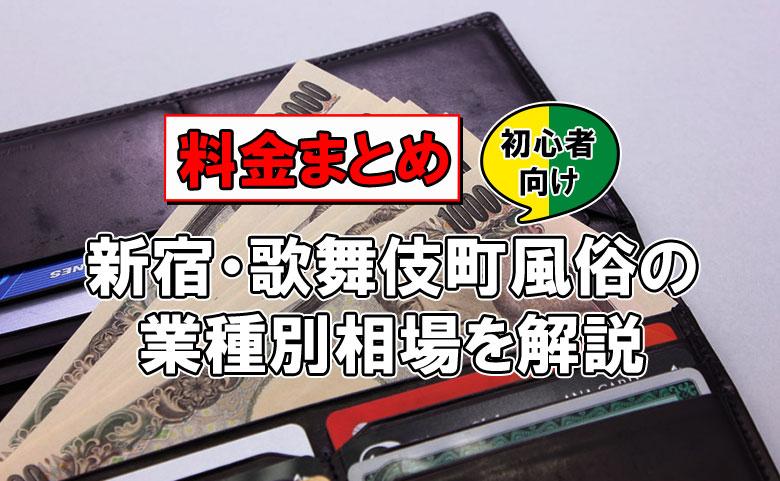 【料金まとめ】新宿・歌舞伎町風俗の業種別相場を解説【初心者向け】