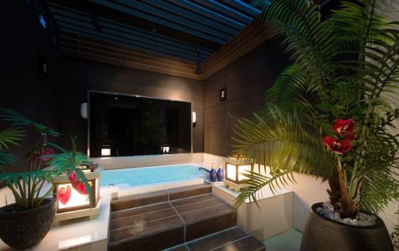 露天風呂がついているお部屋