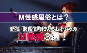 新宿・歌舞伎町にあるおすすめのM性感3選【M性感風俗とは?】